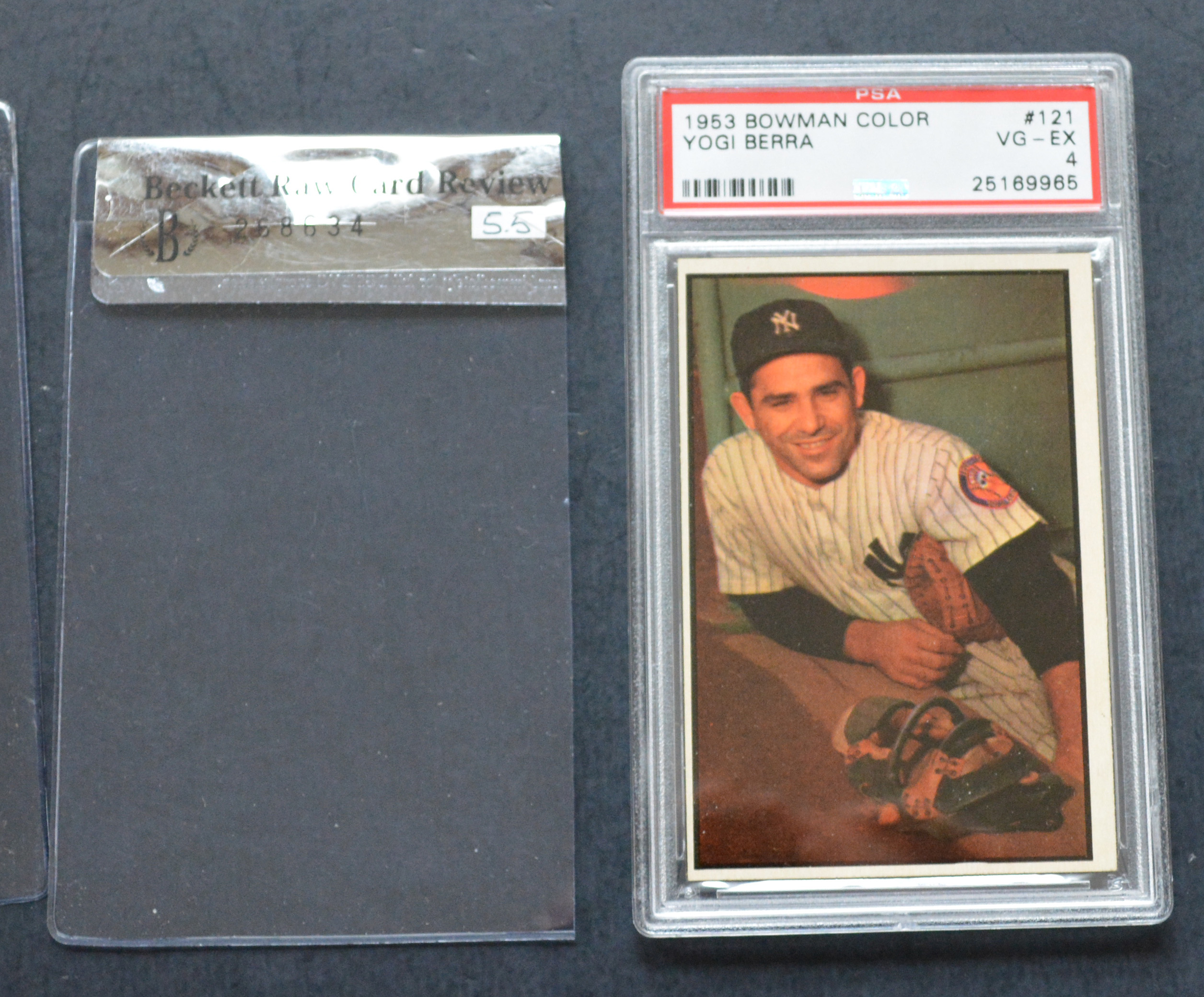 1953 Bowman Color #121 Yogi Berra PSA 4